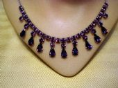 1950's  Necklace - Amethyst Glass Drops (SOLD)